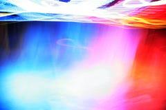 Random streaks of light. Random streaks of colorful lights royalty free stock photography