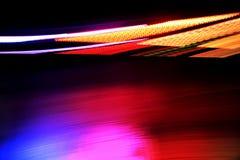 Random streaks of light. Random streaks of colorful lights stock photos