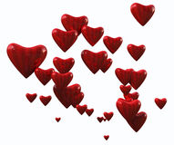 Random Striped Hearts Royalty Free Stock Image