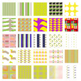 Random Swatch Pattern Set Stock Photo