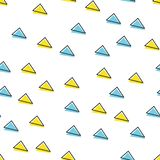 Random triangle pattern in 80s, 90s retro style. Abstract geometric background vector illustration
