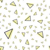 Random triangle pattern in 80s, 90s retro style. Abstract geometric background royalty free illustration