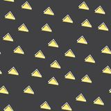 Random triangle pattern in 80s, 90s retro style. Abstract geometric background stock illustration