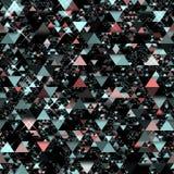 Random triangles. On a black background stock illustration