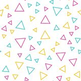 Random triangles pattern, abstract background. Geometrical simple illustratio. N. Creative ans luxury style royalty free illustration
