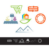 Random web logo icons elements Stock Photos