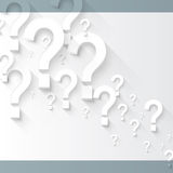 Random white 3d question marks background Royalty Free Stock Photo