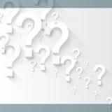 Random white 3d question marks background. Vector random white 3d question marks background stock illustration