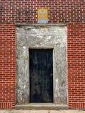 Radioactive Doorway on a Brick Wall Royalty Free Stock Photos