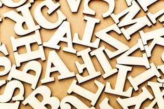 Random wooden letter Stock Image