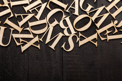 Random Wooden Letterpress Alphabet Royalty Free Stock Image