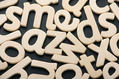 Random Wooden Letters Royalty Free Stock Photo