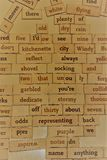 Random Words on a Board Can Spark Memories Stock Photography