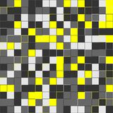 Random yellow squares. Random colored abstract, digital generative art for design texture & background. Random colored abstract, digital generative art for Royalty Free Stock Photo