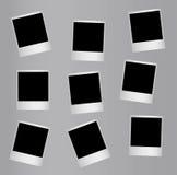 Randomly distributed retro blank photo frames Stock Photo