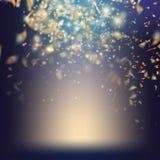 Randomly flowing confetti background. EPS 10 Stock Image