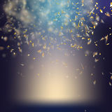 Randomly flowing confetti background. EPS 10 Stock Images