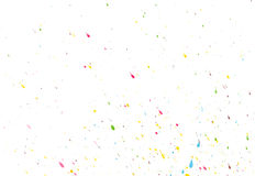 Randomly scattered colorful splashes on a white background. Vector. Royalty Free Stock Image