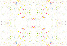 Randomly scattered colorful splashes on a white background. Vector. Stock Photos