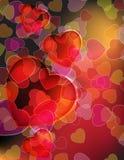 Randomly scattered hearts Royalty Free Stock Photography