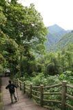 Randonnée dans le Sichuan (Ruggegraat) Stock Afbeeldingen