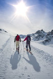 Randonnee ski trails Stock Images