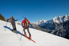 Randonnee ski trails Royalty Free Stock Photos