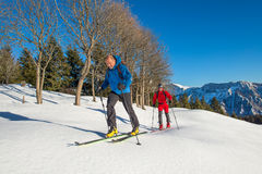 Randonnee ski trails Stock Photos