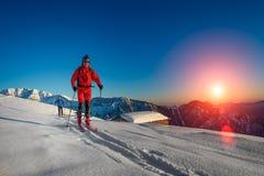 Randonnee ski trails Stock Photo