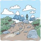 Randonneur de région sauvage illustration de vecteur