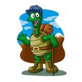 Randonneur de tortue coloré illustration de vecteur