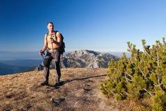 Randonneur en montagnes de Tatras Photographie stock libre de droits