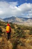 Randonneur en Nouvelle Zélande Photo libre de droits
