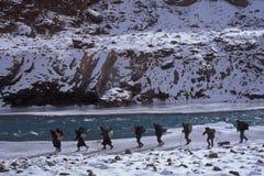 Randonneurs de Chaddar Images libres de droits