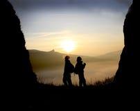 Randonneurs de montagne Photographie stock