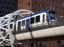 Randstadrail lightrailanslutning i Holland Fotografering för Bildbyråer