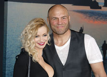 Randy Couture and Mindy Robinson Stock Photos