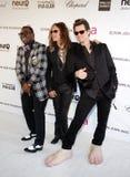 Randy Jackson, Steven Tyler et Jim Carrey photo stock