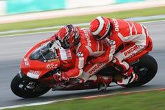 Randy Mamola su Ducati 2 Seater Fotografia Stock