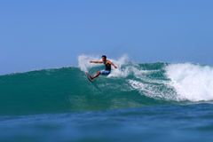 Randy Revilla Surfing at Kaisers Royalty Free Stock Image
