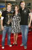 Randy Wayne, April Scott och Jonathan Bennett royaltyfri foto
