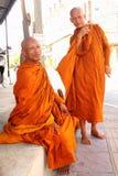 Rane pescarici buddisti in Tailandia Immagine Stock