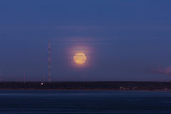 Ranek durnia księżyc fotografia royalty free
