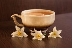 Ranek filiżanka herbata z cytryną Zdjęcia Stock