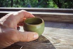 Ranek filiżanka herbata Fotografia Royalty Free