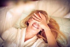 Ranek jest najwięcej pięknego części dzień młode kobiety zdjęcia stock