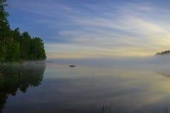 Ranek jezioro Obraz Stock