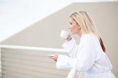 Ranek kawa Zdjęcia Royalty Free
