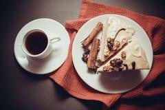 Ranek kawa i souffle Zdjęcia Royalty Free