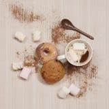 Ranek kawa z donuts Obrazy Royalty Free